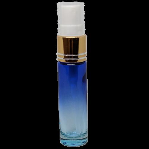 10ml Spray Bottle Blue Clear Gold