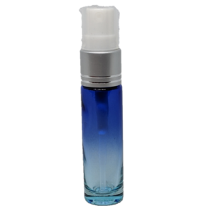 10ml Spray Bottle Blue Clear Silver