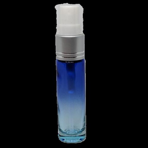 10ml Spray Bottle Blue Clear Silver